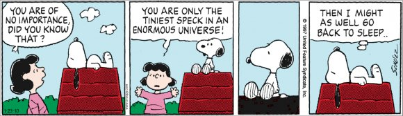 "Peanuts: ""You are of no significance."""