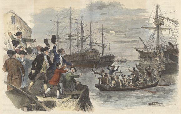 John Andrews, Boston Tea Party--Destruction of the Tea in Boston Harbor, December 16, 1773