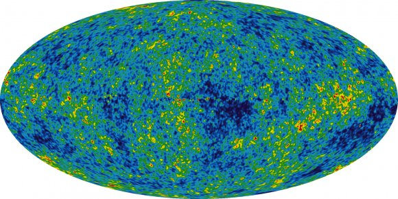 Cosmic microwave background radiation.